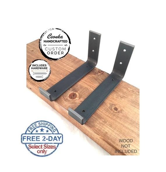 Custom Hook Shelf Bracket, Hook Iron Shelf Brackets, J Bracket, Metal Shelf  Bracket, Industrial Shelf Bracket, Modern Shelf Bracket