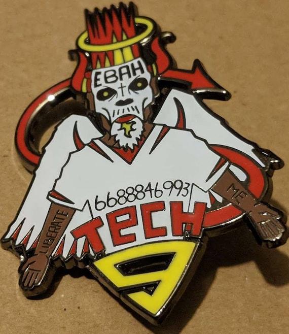 Tech 9 Hat Pin By Slablab Pins Strange Music Lapel Pin Etsy