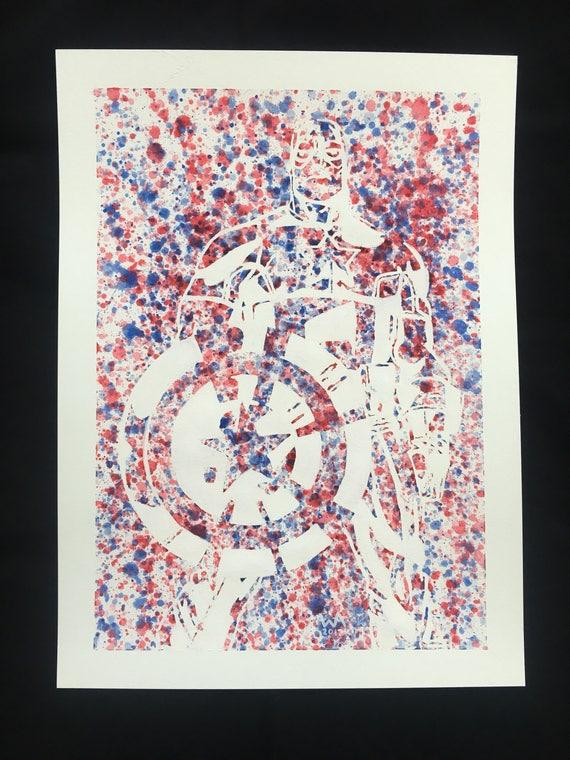 Captain America - Original Watercolor