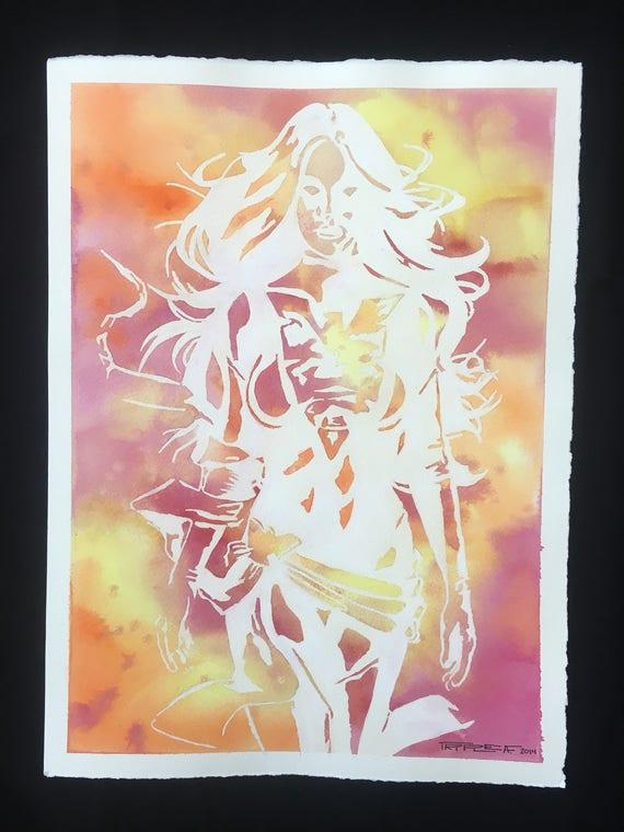 Dark Phoenix - Original Watercolor