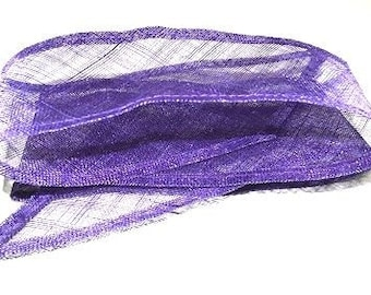 Violet Silk Abaca fabric 1m wide.Highest quality best price Millinery /& crafts