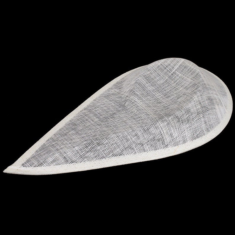 Sinamay Extreme Pointed Saucer Shaped Fascinator and Hat Base for Fascinators and Millinery Ivory HA065