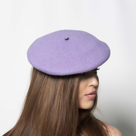 diameter Pewter HA037 27cm 11 inch Traditional Wool Beret for Fascinators and Millinery