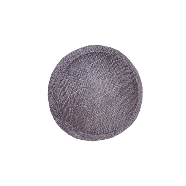 Sinamay Circle Base for Fascinators and Millinery 11cm Pewter HB007 diameter 4.5 inch