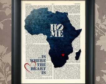 Map Of Africa Art.Africa Map Etsy