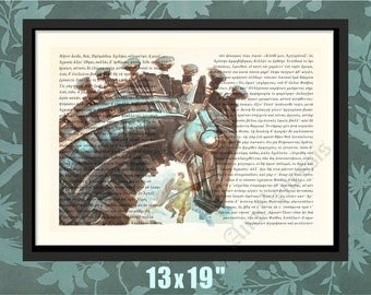 The Iliad, Original Homeric Text, The Iliad Print, The Iliad Decor, The Iliad Art, The Iliad Poster,Trojan Horse Print, Homer,Ancient Greece