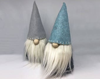 Hand Embroidered Nordic Winter gnome, Nisse, tomte,  hoiday and Christmas home decor