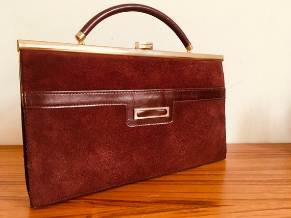 Vintage burgundy leather bag