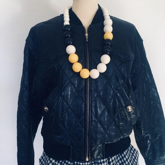Leather bomber jacket leather women jacket vintage