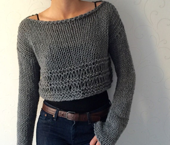 bf07f89ccb29b4 Knit sweater Knit crop top Cropped wool sweater Winter trends