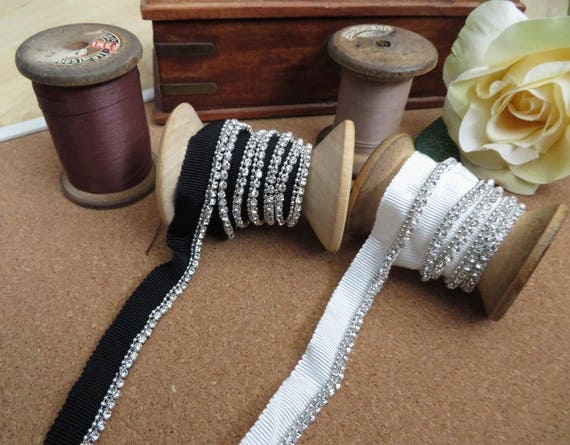 Lace Fringe black and off white double edge trimming black or gold base 2mts
