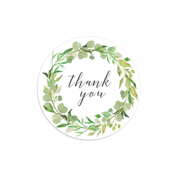 Wedding Thank You Floral Stickers