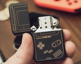 Nintendo GameBoy Inspired Flip Lighter | Custom Smoking Accessories | Cool Custom Lighter with Laser Engraved Design Front and Back