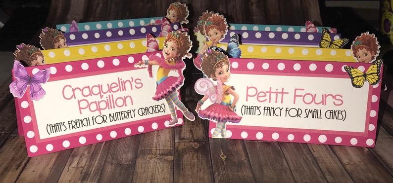 Fancy Nancy Food Labels - Set of 8