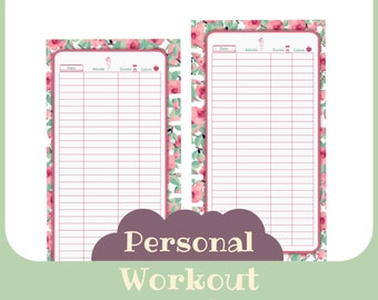 refill workout Personal butterfly style - Printable -