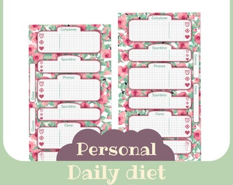 inserto Dieta Giornaliero Personal butterfly style - Printable -
