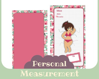 inserto Dieta misure mensili Personal butterfly style - Printable -