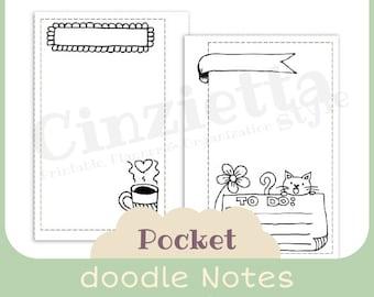 Doodle note - Pocket size - Printable