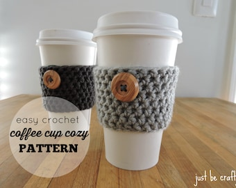 Crochet Coffee Cup Cozy Pattern PDF Download; Coffee Cup Cozy; Starbucks Coffee Cup Cozy; Cup Cozy Pattern ; Crochet Cup Cozy; Cup Holder