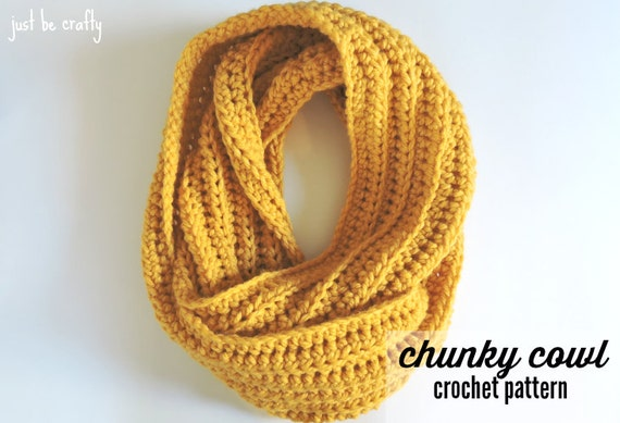 Crochet Chunky Cowl Pattern Crochet Cowl Pattern Chunky Cowl Etsy