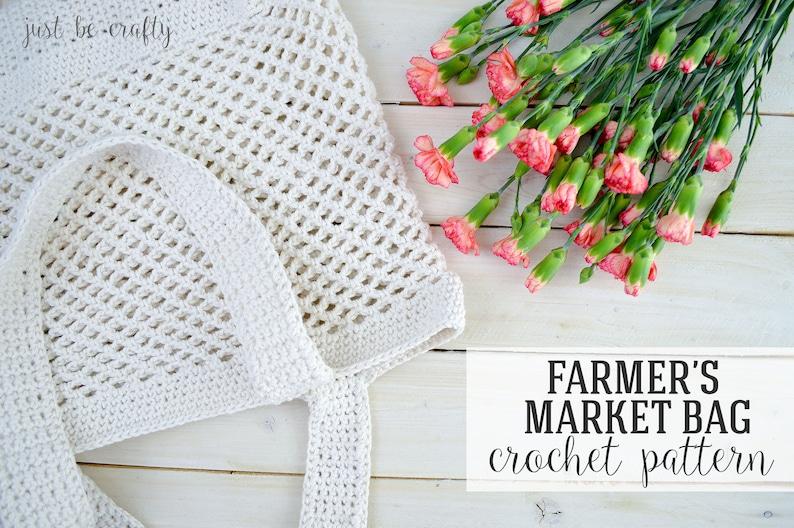 CROCHET PATTERN Crochet Farmer's Market Bag Pattern image 0