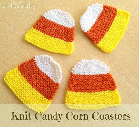 Knit Candy Corn Coaster Pattern Pdf File Download Candy Corn Etsy