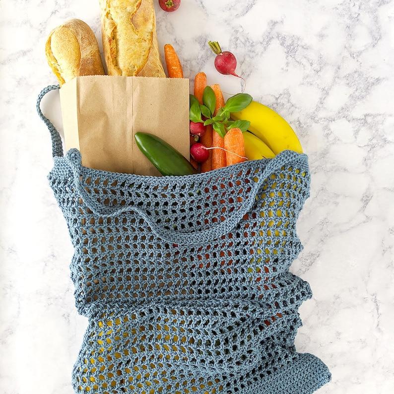 CROCHET PATTERN Veggie Stand Market Bag Pattern PDF Download image 0