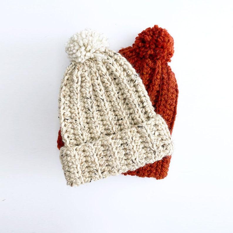 CROCHET PATTERN Chunky Crochet Hat Pattern Easy Crochet Hat image 0
