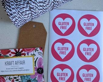 24 Gluten Free stickers