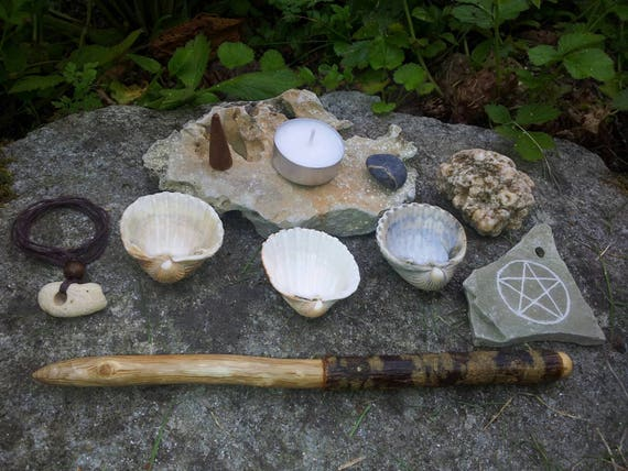 Sea Witch Altar Altar Set Pagan Altar Hag Stone Oak Wand Etsy Energy essentials for witches and spellcasters. etsy