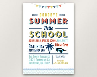 summer party invitation party invitation beach party etsy