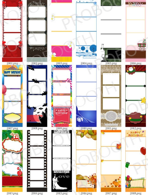 30 Photo Strip Templates For Photo Booths 2001 2030