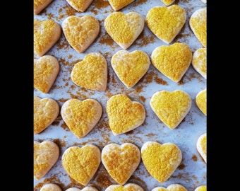 XXL Boxes, 2 x 63 pcs. German Homemade cookies, 2 big boxes Sugarcookies, Cookiehearts, Hearts, traditional and authentic german recipe