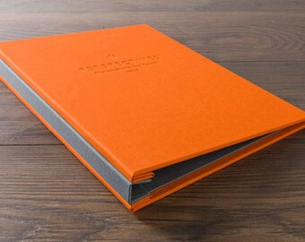 A4 Screw Post Portfolio Book, Custom Variations in Colours & Personalisation. Ideal for Designers, Photographers, Artists