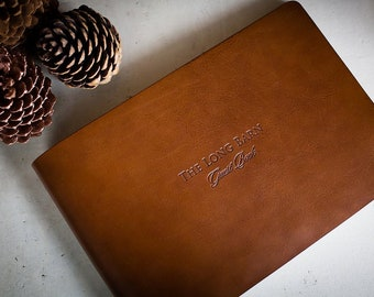 A4 Leather Guest Book