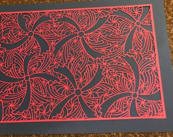 Stars and Windmills Paper Cutting Template Personal use