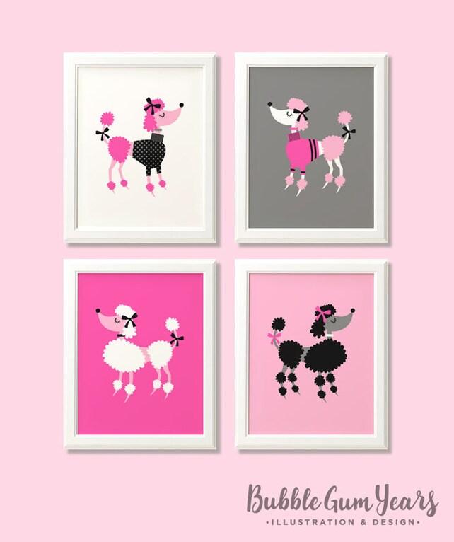 Poodle print set poodle print set poodle wall art poodle   Etsy
