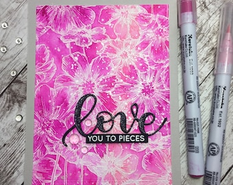Anniversary Card, Love Card, Handmade Greeting Card