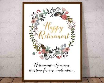 happy retirement digital file happy retirement printables etsy