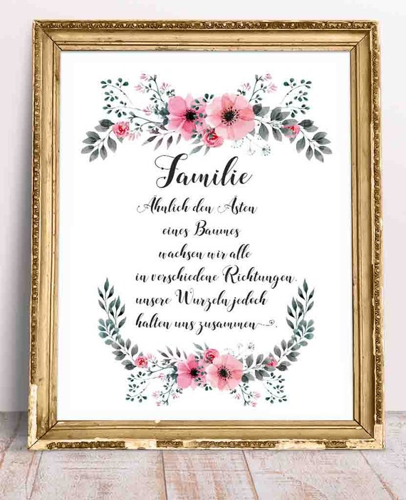 German Quotes German Language German Wall Art Family Quotes Etsy