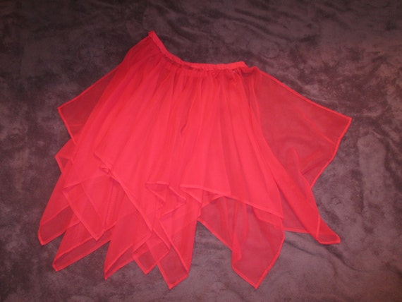 Red Scalloped Overskirt