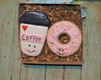 valentines day coffee and donut cookies