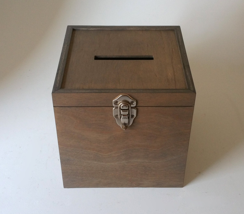 collection box 10 x 10 x 10 lockable hasp comments