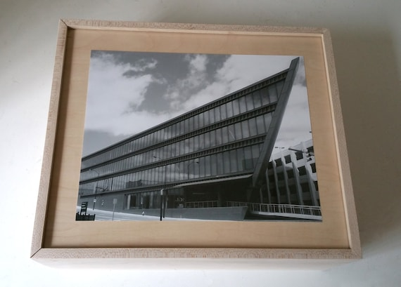 Wood Photo Box With Lid Picture Frame Sliding Lid Keepsake Etsy
