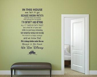 ohana zitat lilo und stitch inspiriert vinyl wand etsy. Black Bedroom Furniture Sets. Home Design Ideas