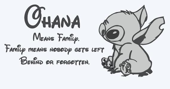 Qidushop Targa in metallo Ohana Means Family /& Family Means Nobody Gets Left Behind Or Forgotten Family Sign in alluminio cartello decorativo per la casa 20,3 x 30,5 cm