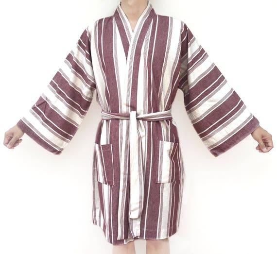 Red Super Soft Light Weight Turkish Cotton Kimono Bathrobe  d2f91b8f6