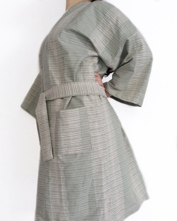 4ba124c175 Light Green Turkish Soft Cotton Kimono Robe Bridesmaids Robe