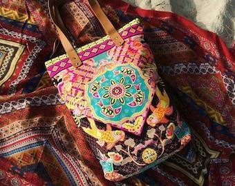 Neon tote bag Summer outdoors Bohemian Bag/ Beach bag / Beach totes / Boho tote bag