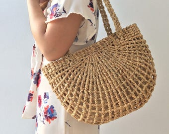 Bridesmaids Totes / Bridesmaids Gift / Straw Bag / Basket bag / Woven Bag / Hand bags / Straw tote / seagrass bag / wicker bag